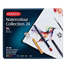 Derwent Watercolor Collection, Metal Tin, 24 Count (0700304)