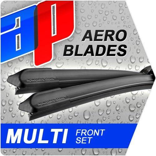 2008-2013 24 19 Aero FLAT Windscreen Front Wiper Blades 2.0 TDI Hatchback MK VI
