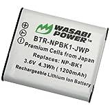 Kinamax 1200mAh NP-BK1 Replacement Battery for Sony bloggie MHS-CM5, MHS-PM5 - Premium Japanese Cells