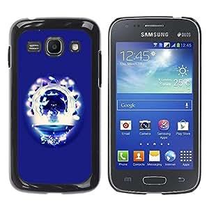 Be Good Phone Accessory // Dura Cáscara cubierta Protectora Caso Carcasa Funda de Protección para Samsung Galaxy Ace 3 GT-S7270 GT-S7275 GT-S7272 // Party Skull
