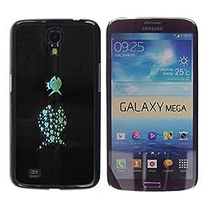 A-type Arte & diseño plástico duro Fundas Cover Cubre Hard Case Cover para Samsung Galaxy Mega 6.3 (Gracioso - Pescado)