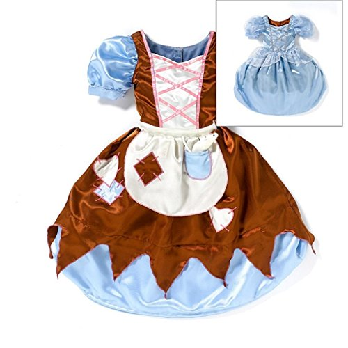 Cinderella Rags Costumes (Disney Cinderella Rags to Riches Girl Halloween Dress up Costume Size 7 - 8 New)
