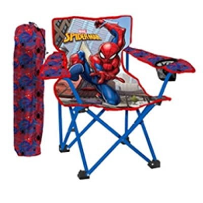 Danawares Spiderman Camp Chair + Cup Holder Age/Grade 3-8: Toys & Games [5Bkhe0302343]