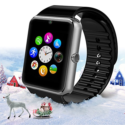 StarryBay Black Bluetooth Wrist Smart Watch with Touch Screen / Handsfree Call / Camera for Android 4.2 and Above / Limited Functions for iPhone 7.0 and Above