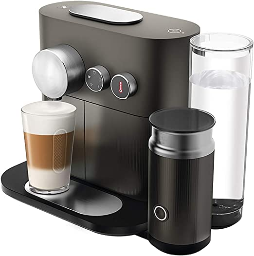 Smart Home - Cafetera automática con espumador de leche, color negro: Amazon.es: Hogar