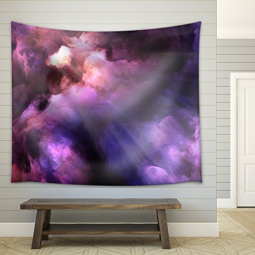 Purple Swirl Tapestry - wall26 - Surreal, vivid, dark purple and red storm clouds swirl and billow - Fabric Wall Tapestry Home Decor - 68x80 inches
