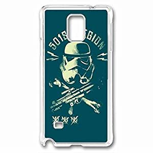 501st Legion And Clone Wars Custom Back Phone Case for Samsung Galaxy Note 4 PC Material Transparent -1210184