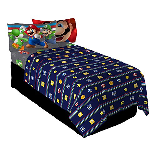 Nintendo Super Mario Trifecta Fun Twin Sheet Set