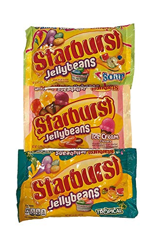 Starburst Jelly Beans, Sour, Ice Cream and Tropical Variety Pack
