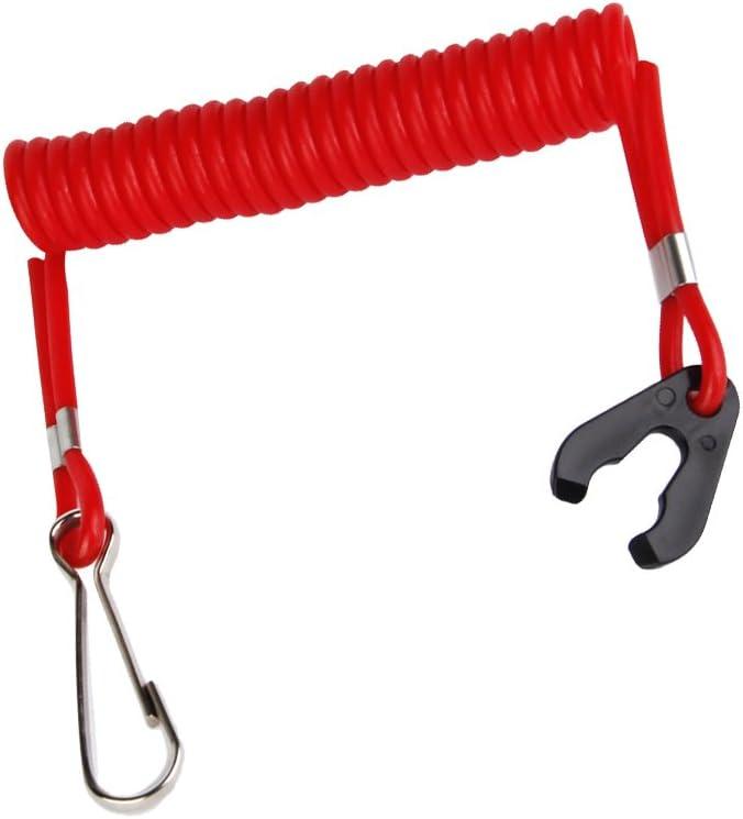 160 cm Motorschalter Lanyard Außenborder Kunststoff Rot Schlüssel Sicherheit