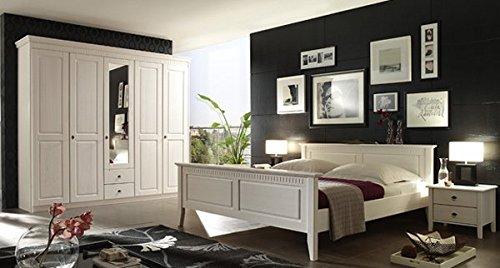 Schlafzimmer-komplett-4-teilig-Bozen-6708-weiss-gewachst-Kiefer-massiv