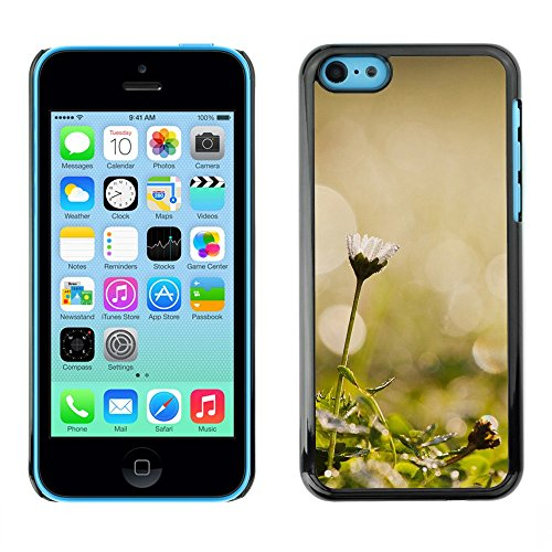 Soft Silicone Rubber Case Hard Cover Protective Accessory Compatible with Apple iPhone 5C - Plant Nature Forrest Flower 45
