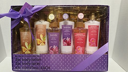 BATH INDULGENCE SCENTED 6PC BATH GIFT SET COLLECTION
