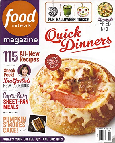 Food Network Magazine - October 2018 - 115 All New Recipes - Super Easy Sheet Pan Meals - Quick Dinners - 20 Minute Fried Rice - Fun Halloween -