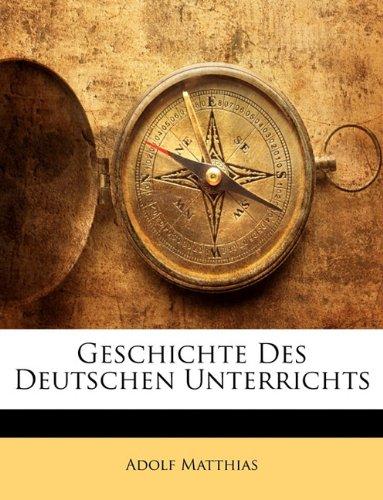 Handbuch des Deutschen Unterrichts an hoeheren Schulen, herausgegeben von Dr. Adolf Matthias, Erster Band (German Edition) pdf epub