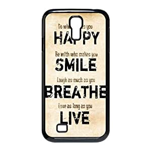 SamSung Galaxy S4 I9500 2D DIY Hard Back Durable Phone Case with live laugh love Image