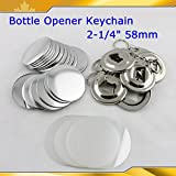 Bottle Opener Keychain 58mm 2-1/4'' Parts 100set Supplies for Pro Maker Machine