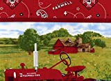 "NEW Farmall Four Seasons Scenic Pillow Panel by Print Concepts -100% Cotton 44"" Wide x 36"" by The Panel"