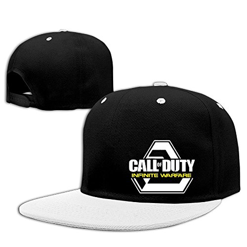 Custom Unisex First-person Shooter Video Game Snapback Baseball CapHat White ()