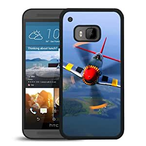 New Beautiful Custom Designed Cover Case For HTC ONE M9 With War Plane Close Up Phone Case