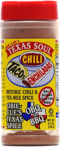 Obie-Cue's Texas Soul - Historic Chili, Taco & Tex-Mex Spice Mix (8.4 - Mex Tex Chili