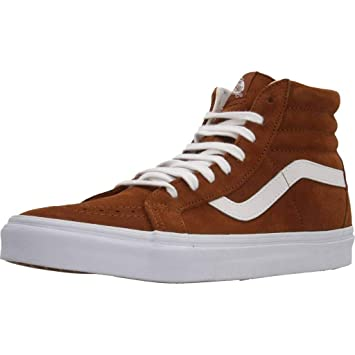 1f9c927f4f Vans Sk8-Hi Reissue Leather Brown (9 Women   7.5 Men M US)