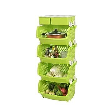 Amazon De Zaiyi Kitchen Shelf Kuchenregal Regal Kunststoff