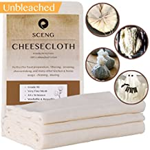Cheesecloth, Grade 90, 36 Sq Feet, Reusable, 100% Unbleached Cotton Fabric, Ultra Fine Cheesecloth for Cooking - Nut Milk Bag, Strainer, Filter (Grade 90 - 4Yards)