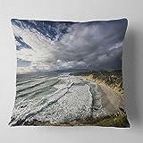 Designart CU12896-18-18 Stunning South Africa Sea Coast' Seashore Throw Cushion Pillow Cover for Living Room, Sofa, 18 in. x 18 in.