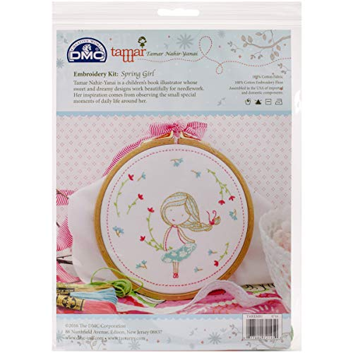 Dmc Embroidery Kits - DMC Kit Spring Girl Tamar Embroidery KitSpringGirl