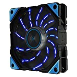 Enermax D.F.Vegas 120mm Dust Free Rotation Technology Blue LED High Performance with PWM Speed Control Case Fan Single Pack, UCDFV12P-BL