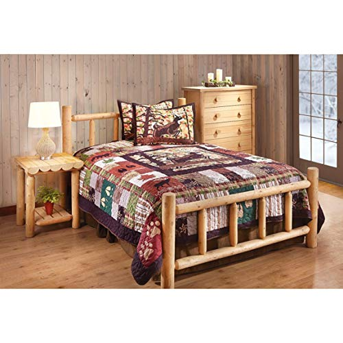 CASTLECREEK Cedar Log Bed, Twin