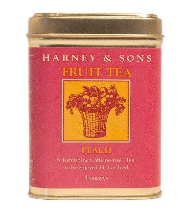 Peach Fruit Tea, Loose tea in 4 Ounce tin
