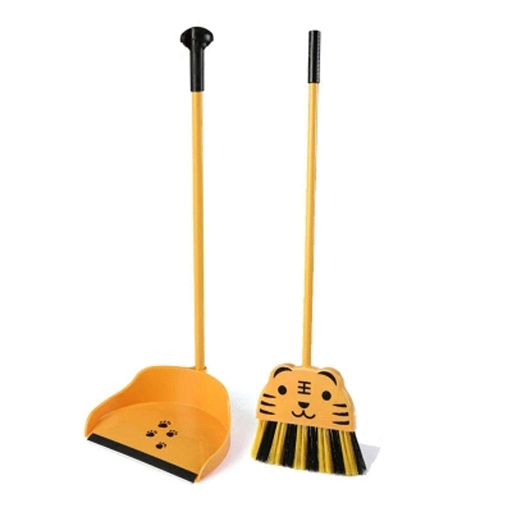 Lxrzls 2-piece 25.5x8.2 / 24x8.6'', mini broom and shovel set, children's broom baby play house toy mini broom corner cleaning brush combination small broom