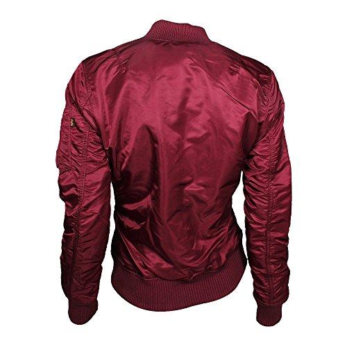 ALPHA Industries MA-1 VF 59 Women chaqueta Burgundy, Frauen:XL