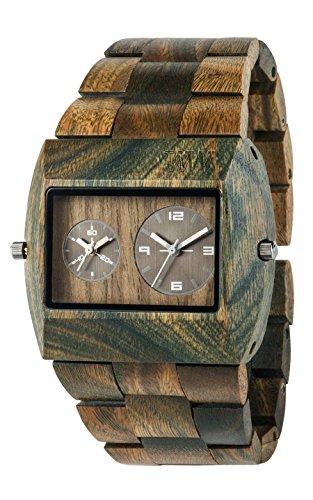 WeWOOD JUPARMYRS Mens Jupiter Army Wood Bracelet Watch