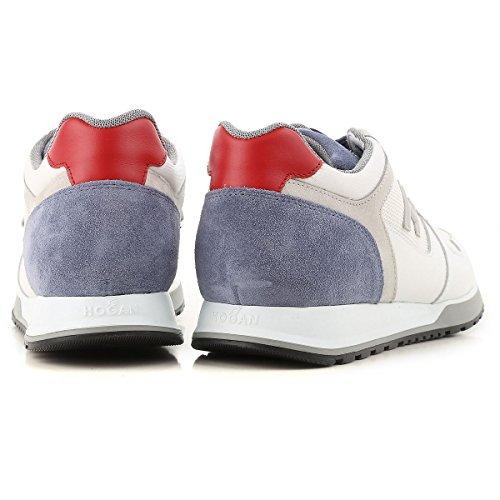 Hogan Sneakers Mannen H321 Suède En Leer Mod. Hxm3210y851ii7940f Blauw En Rood