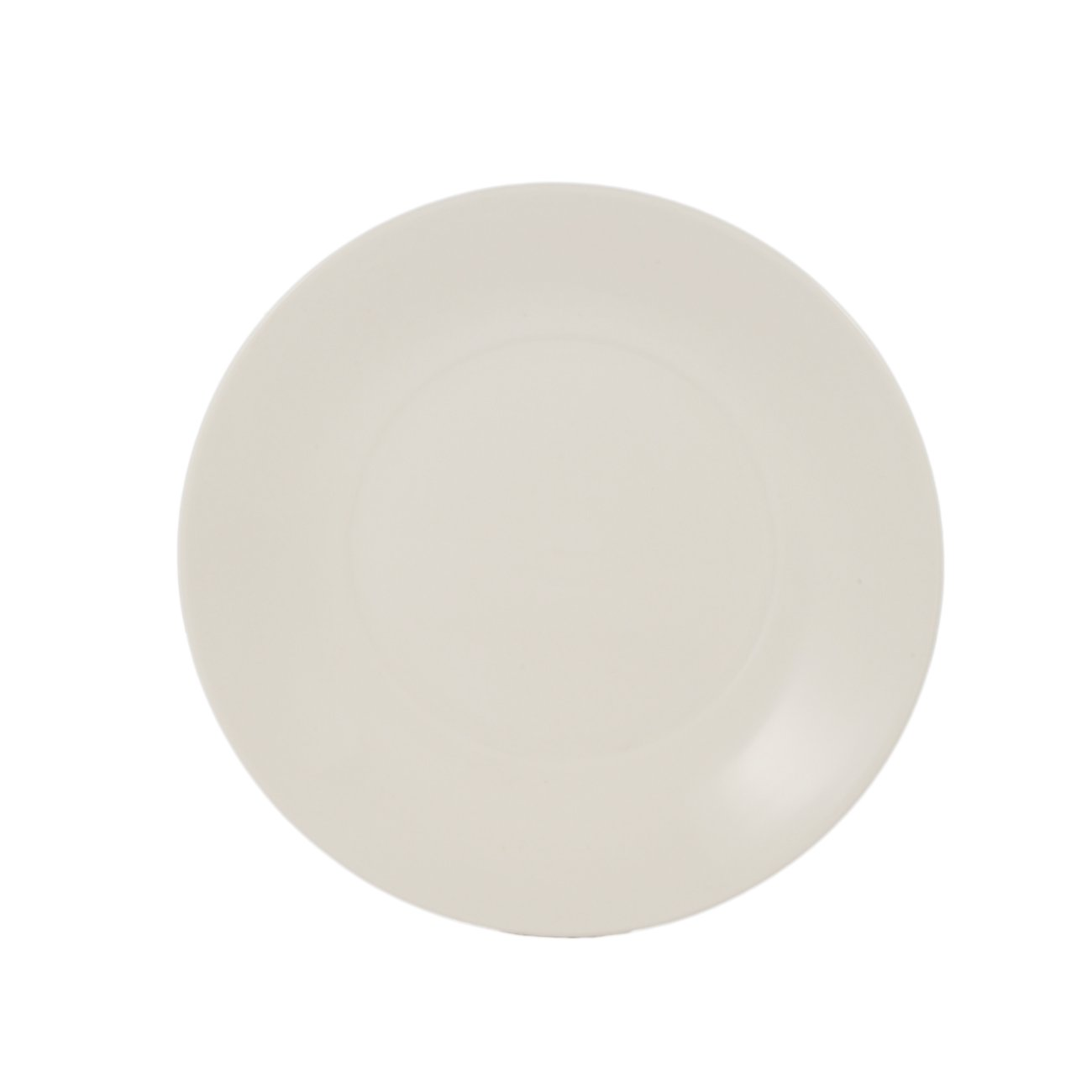 CAC China R-SP21 Porcelain Round Salad Plate, 11-1/2-Inch, Bone White, Box of 12