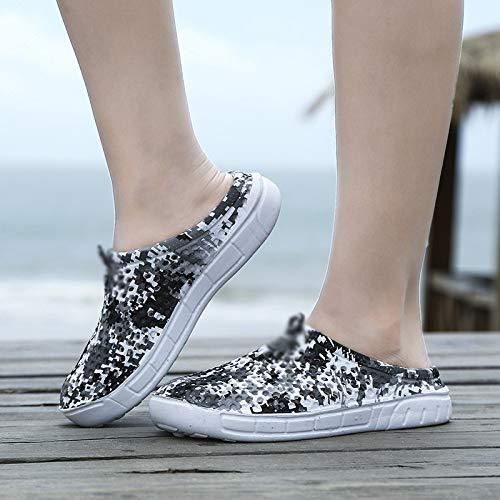 Camuffare da spiaggia marea coppia degli drag sandali maschile scarpe buco scarpe Estate sandali da pantofole parola uomo e WFL slip Baotou uomini estate Rx7wIBzq