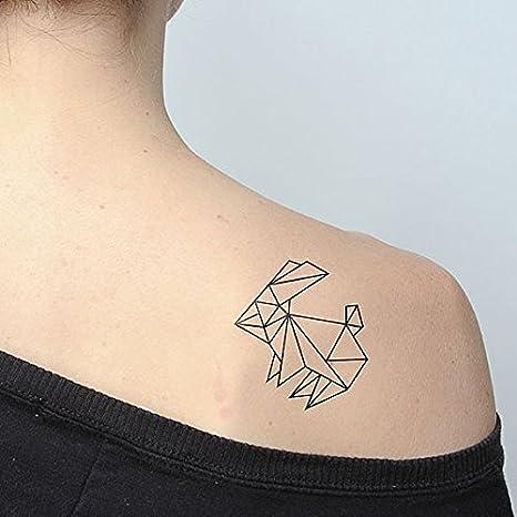 Tatuaje Temporal Tattify - Conejo de Origami - Salta (juego de 2): Tattify.com: Amazon.es: Belleza