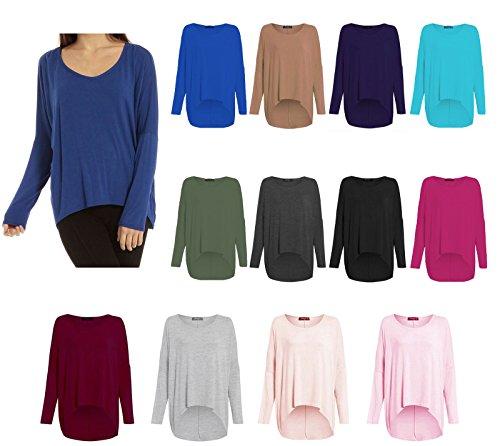 Jersey ancho de manga larga para mujer negro