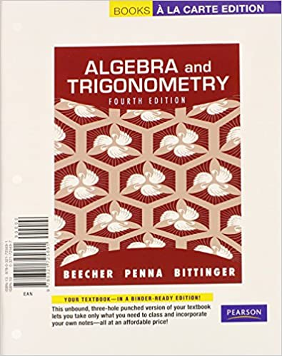 Algebra and trigonometry books a la carte edition plus mymathlab algebra and trigonometry books a la carte edition plus mymathlab with pearson etext access card package 4th edition 4th edition fandeluxe Choice Image