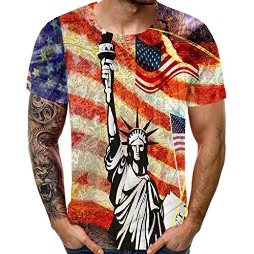 USA Military American Skull Flag Patriotic Men