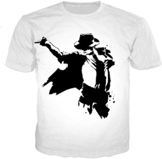 JJZHY Camiseta de Manga Corta con Estampado 3D Michael Jackson de King of Pop Michael Jackson Disfraz: Amazon.es: Deportes y aire libre