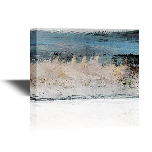 Abstract Landscape Artwork with Blue and Grey Colors Gallery