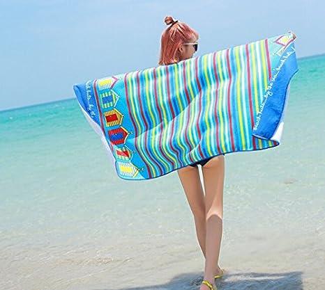 LanLan Femmes Mode Impression Foulard Parasol Photographie Rectangle Châle Plage Serviette FrBTo1a