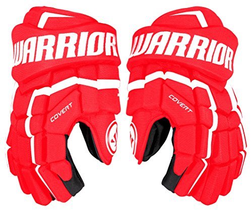 Warrior QRL3 Gloves, Size 13, Red/White - Red Ice Hockey Gloves