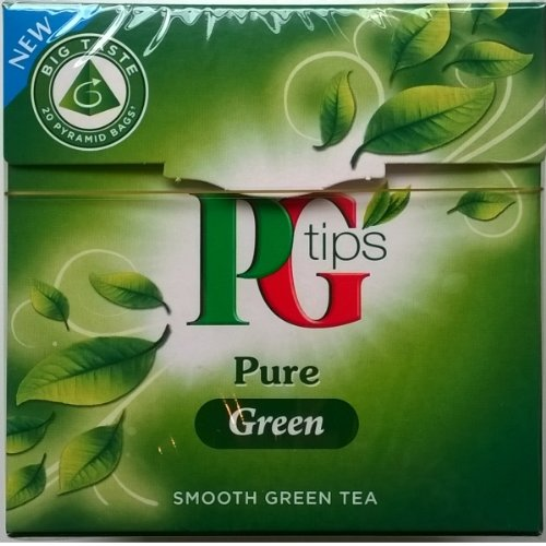 Pg Tips Pure Green Smooth Green Tea 20 Pyramid Bags (Pack of 4)