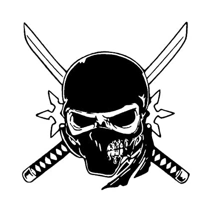 Unique Ninja Skull Motorcycle Truck Car Decal Stickers 15 cm ...