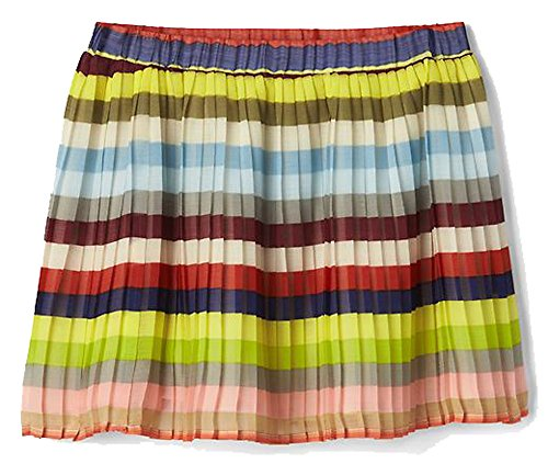 - Gap Kids Girls Crazy Multi Stripe Pleated Lined Skirt XL 12